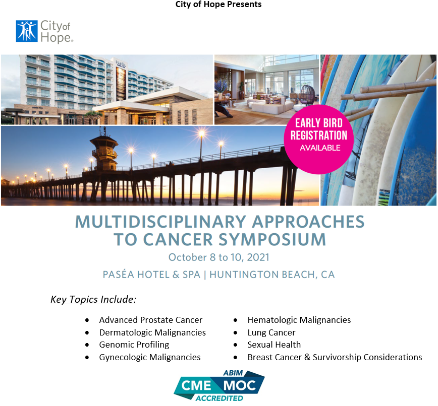 Multidisciplinary Approaches to Cancer Symposium 2021